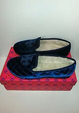 Tory Burch Quilted Velvet Shearling Flats Shoes Size 8
