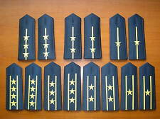 07's series China PLA Navy Officers Soft Shoulder Boards,7 Pair,Set