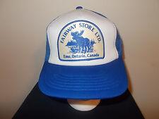 VTG-1980s Fairway Store LTD  Emo Ontario Canada Moose Logo snapback hat sku12