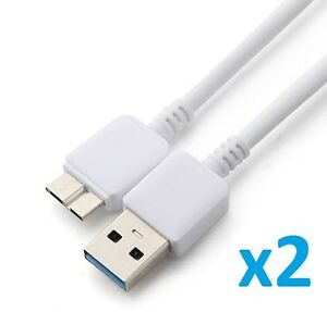 2 x USB 3.0 Charging Charger Sync Cable Cord for Samsung Galaxy Note 3 III