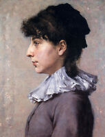 Oil painting William Merritt Chase - Young woman Portrait of Virginia Gerson art