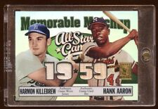 2003 TRIBUTE HANK AARON HARMON KILLEBREW ALL-STAR GAME JERSEY/BAT /150  HOF RARE