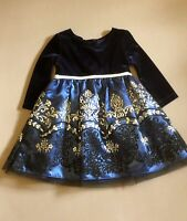 Emily Rose Toddler 2T Girl Holiday Party Dressy Long Sleeve Sparkly Velvet Top