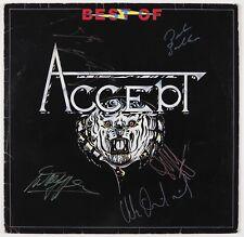 Accept Full Band Best Of Signed Autograph Record Album JSA Vinyl