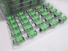 400pcs  Adapter SC/APC Fiber Optical Connector Flange Head Coupler Square Joint