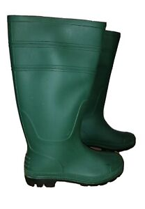 Green Wellies / Wellington Boots ADULT SIZE 6 VGC