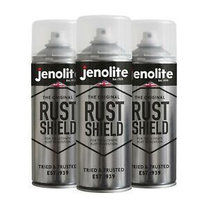 Jenolite Rust Shield Aerosol Clear Protection Against Rust & Corrosion: 3x400ml