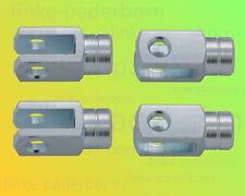 4 x Gabelkopf 6x12 M6 links - verzinkt - ohne Zubehör - Gabelgelenk Gabelköpfe