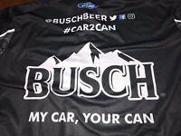 2019 XL KEVIN HARVICK BUSCH BEER Black Car2Can Pit Crew Shirt DAYTONA SHR Nascar
