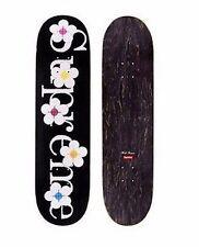 "SUPREME Flowers Skateboard Deck Black 8.375"" box logo camp cap tnf lv S/S 17"