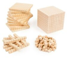 NEW!!!  Woodbase Ten Set 100 Cubes 10 Rods 10 Flats 1 Base  Counting Rods