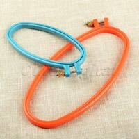 Sewing Tool 1/2Pcs Oval Plastic Cross Stitch Machine Embroidery Frame Hoop Ring