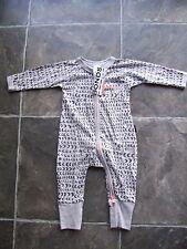 Baby Boy's Bonds Grey Zip Wondersuit/coverall/sleeper Size 000