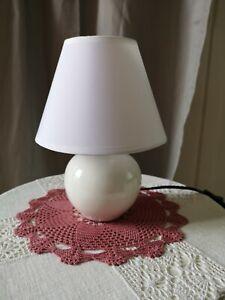❇️Tischlampe~weiß~🤍~Keramik ~klein~shabby~Landhaus ~neu~Lampe~Nachtisch~❇️~