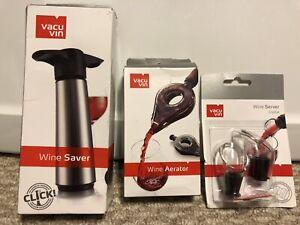 NEW! Vacu Vin Wine Accessories, Aerator, Saver, or, Servers!