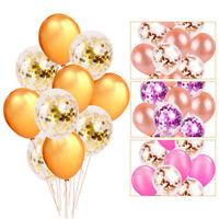 "10pcs 12"" Confetti Latex Balloons Set Wedding Party Baby Shower Birthday Decor"
