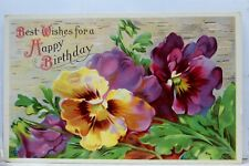 Greetings Best Wishes for a Happy Birthday Postcard Old Vintage Card View Post
