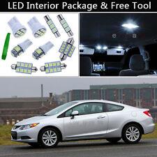 6PCS Bulbs White LED Interior Lights Package kit Fit 2006-2012 Honda Civic J1