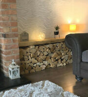 Rustic floating shelf wooden mantle mantel chunky 3 inches all sizes & colours .