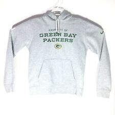 Nike Training Green Bay Packers Hoodie Sweatshirt Mens Medium NFL Gray Embroider