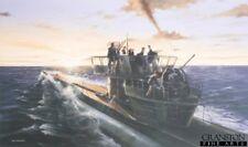 Naval Art POST CARD German Kriegsmarine U-Boat U269 B24 Liberator