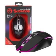 Marvo Scorpion M112 Programmable Optical PC Gaming Mouse | 4000 DPI | ERGONOMIC