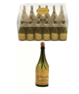 48x Champagne Bottle Wedding Favors Bubbles Party Table Decorations Green UK