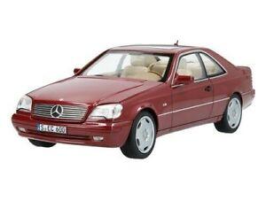 Mercedes Benz C140 Coupe CL600 Almandine Red Metallic 1:18 Model Car
