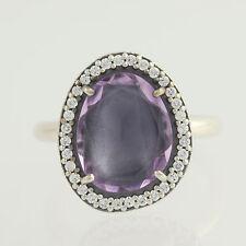 New Pandora Ring 190893AM Amethyst Sterling Silver 7 54