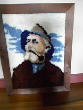 Large Framed Latch Hook Man Home From The Sea