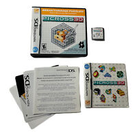 Picross 3D (Nintendo DS, 2010) Complete w/ Manual TESTED Working