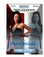 TNA Karen Jarrett #27 2012 Reflexxions RED Authentic Autograph Card SN 14 of 25