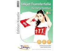 T-Shirt Transferfolien für wei�Ÿe Textilien A4 Inkjet Your Design 32 Stück
