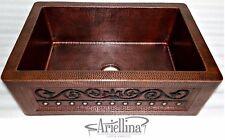 "36"" Ariellina Farmhouse 14 Gauge Copper Kitchen Sink Lifetime Warranty AC1922 VC"