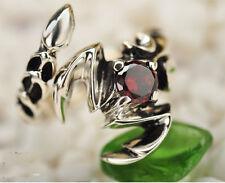 925 Sterling Silver Garnet scorpion  rings  ring jewelry P431