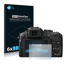 6x Displayschutzfolie Panasonic Lumix DMC-FZ200 Schutzfolie Klar Folie