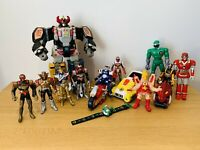LARGE BUNDLE OF BANDAI MIGHTY MORPHIN POWER RANGERS/VR TROOPERS & MASKED RIDER