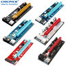 PCIE Express 1x to 16x Riser Card USB 3.0 Extension Cable For BTC ETH Mining