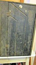 Primitive Black Wood 3 Tier Kitchen or Bath Cabinet with/Door