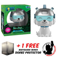 FUNKO DORBZ RICK AND MORTY SNOWBALL FLOCKED EXCLUSIVE + FREE DORBZ PROTECTOR