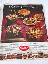 PUBLICITE 1967  Le prêt à cuisiner GARBIT c'est de la vraie cuisine !