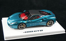 1/18 BBR FERRARI 488 GTB ARTHEMIS GREEN CARBON ROOF DELUXE BASE LE 10 PCS N MR