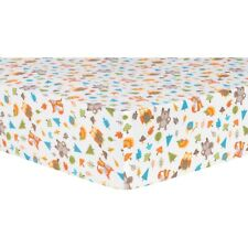 Woodsy Animals Deluxe Flannel Fitted Crib Sheet by Trend Lab