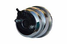 "7"" Chrome Dual Diaphragm power brake booster Hot Rod Street Rod Rat Rod NEW PB07"