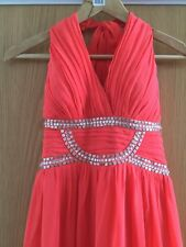 prom dress/bridesamaid/ladies halter neck evening dress in coral colour  size 12