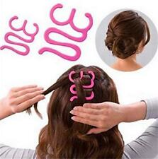 Women Fashion Hair Styling Clip Stick Bun Maker Braid Tool Hair Accessories CL