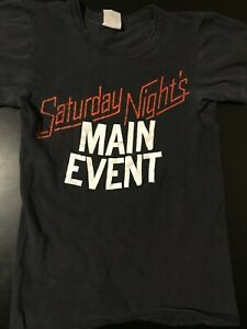 RARE Vintage 80s Saturday Night's Main Event Youth Kids T-Shirt Wrestling WWF