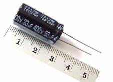 33uf 400v 105c 2000hrs radial Elko condensador rm5 12,5x25mm x50 pieza/e-cap
