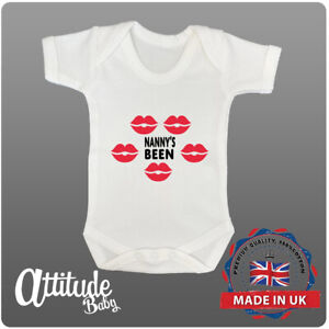 Funny Baby Grows-Printed-Nanny's Been-Novelty Baby Grows-Funny Printed Baby Grow