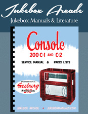 NEW! Seeburg Console 200 C-1 and C-2 Engineers Service Manual and Parts Lists